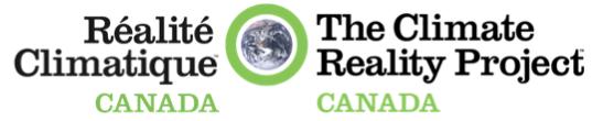 Le Projet de la réalité climatique Canada