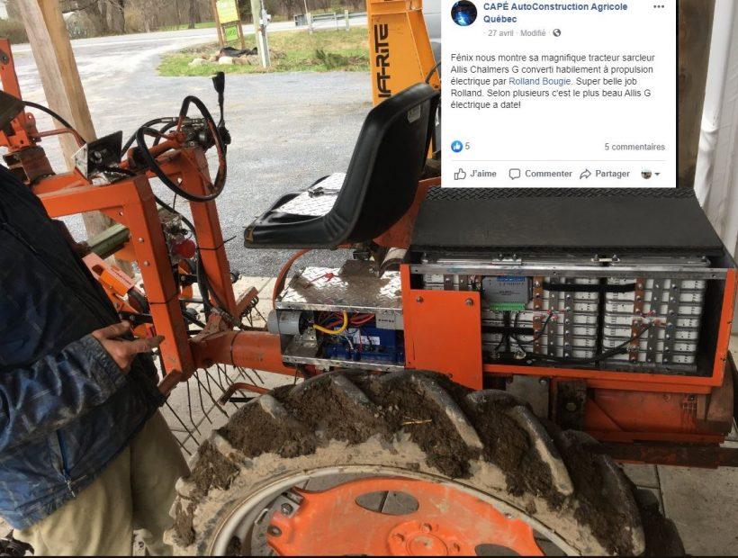 Service de conversion de tracteur à essence à électrique Rolland Bougie